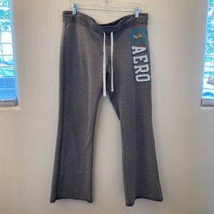 Aeropostale wide leg Sweatpants Grey Size L